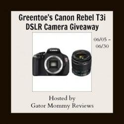 Win a Canon Rebel T3i DSLR Camera Giveaway