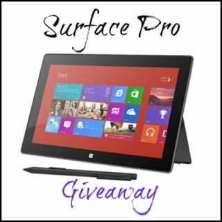 Win A Surface Pro Tablet