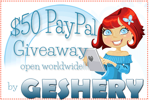 Blogging Opportunities: Sign Up $50 Paypal Giveaway by Geshery