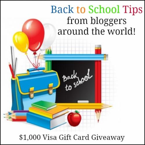 Back to School Blast visa gift card