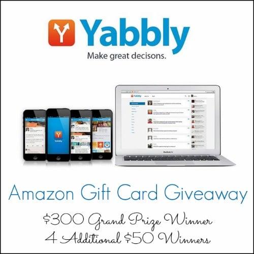 yabbly amazon gift card