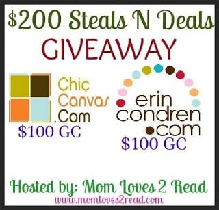 Win $200 Gift Codes in Steals & Deals Giveaway