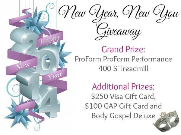 Win Treadmill in New Year New You Giveaway