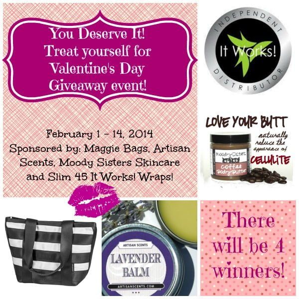 You Deserve It Valentines Giveaway