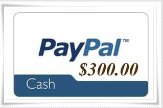 Win Cash – $300 Giveaway