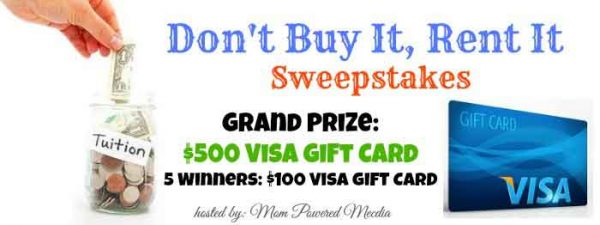 Blogger Opp – Don't Buy It, Rent It Sweepstakes