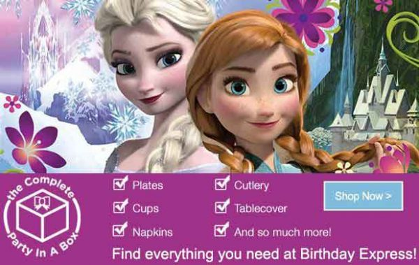 Party Themes – Disney's Frozen Birthday Party Pack