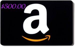 Amazon Gift Card Balance $500 Giveaway