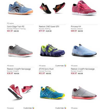 Reebok Outlet Discount – Save 50%