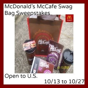McDonald's McCafe Swag Bag Sweepstakes – Win A Prize Pack