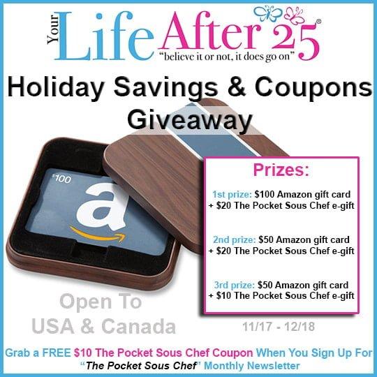 Holiday Shopping – Win Holiday Savings & Coupons Giveaway
