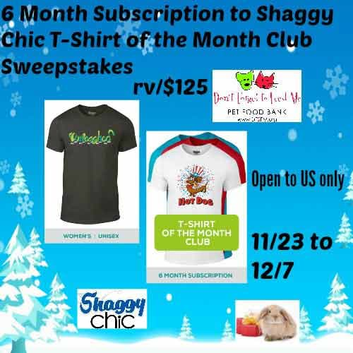 T-Shirt Of The Month Club Sweepstakes