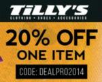 tillys promo code 2014
