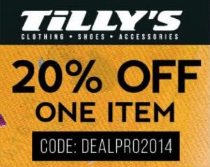 Tillys Promo Code 2014 Get 20 Discount Work Money Fun