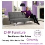 dhp furniture zoe futon image