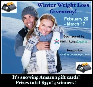Win Weight Loss Amazon Gift Cards Giveaway