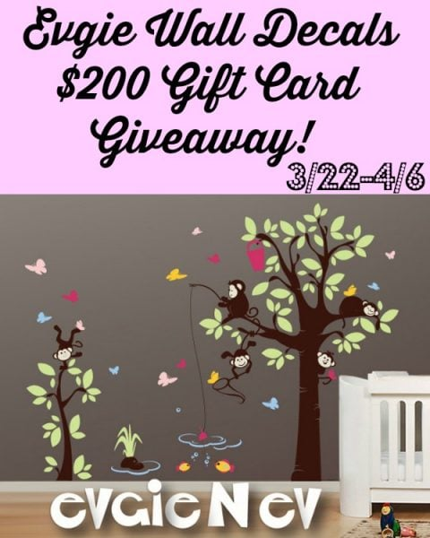 Evgie Wall Decals GC Giveaway
