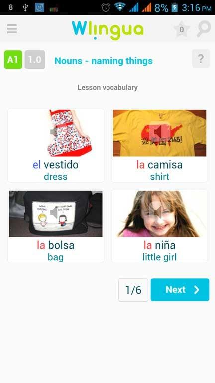 wlingua lesson image