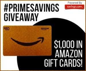 Amazon #PrimeSavings Giveaway