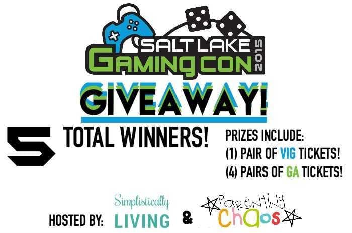 Salt Lake Gaming Con 2015 Giveaway