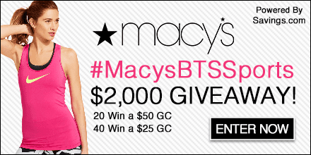 #MacysBTSSports Deals And Giveaway