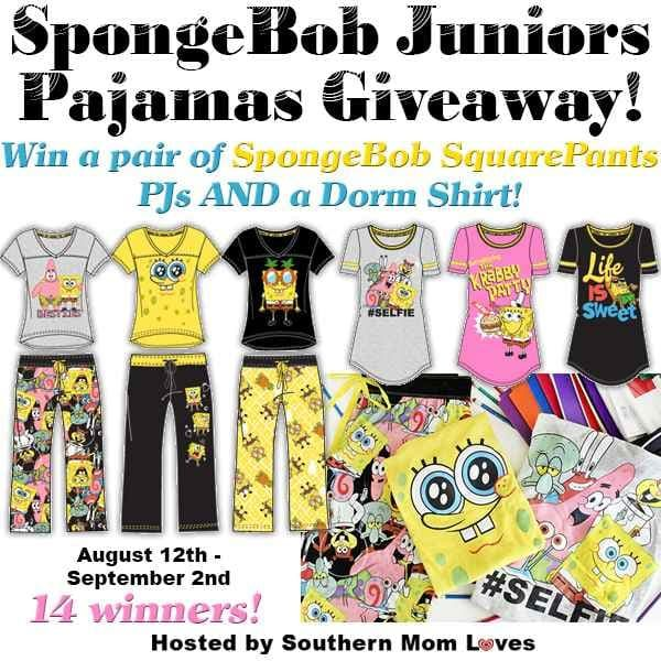 SpongeBob Juniors Pajamas Giveaway