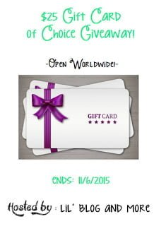 $25 Gift Card Of Your Choice Giveaway