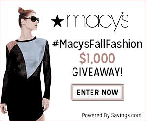 Macy's Fall Fashion 2015 GC Giveaway