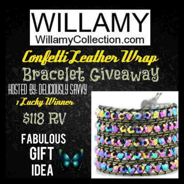 Leather Wrap Bracelet Giveaway Event