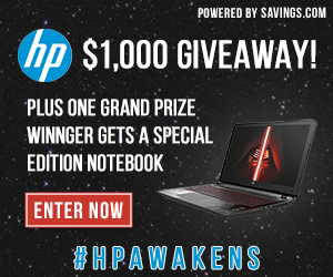 Star Wars Special Edition Notebook & HP GC Giveaway