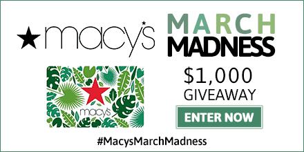 Macy's $1000 Giveaway