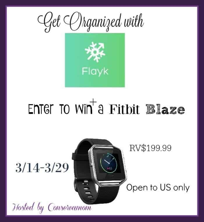 Free Fitbit Blaze And Flayk App Giveaway