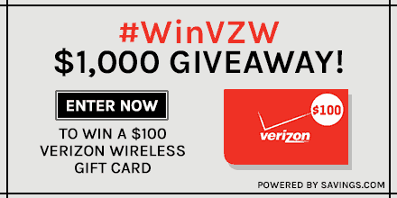 Verizon Discount Code Plus Gift Card Giveaway