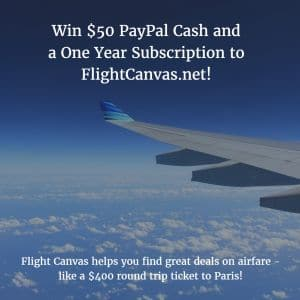 Flight Canvas $50 Paypal Giveaway