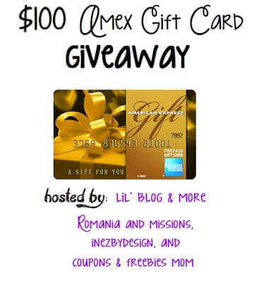 $100 Amex Gift Card Giveaway