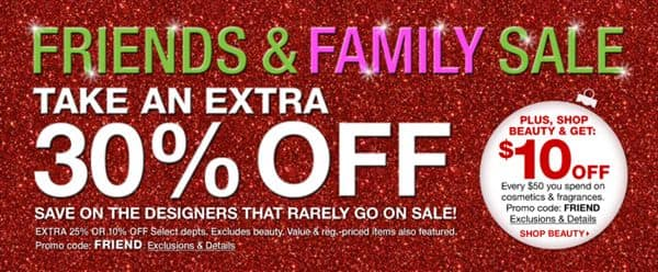 friends & family sale