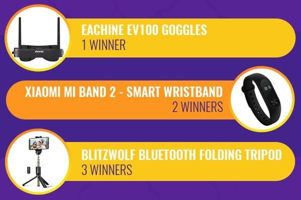 Banggood prizes